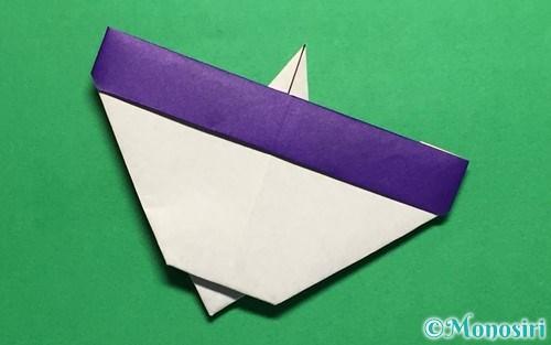 折り紙で折った平面のコマ