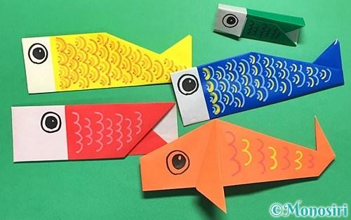 折り紙で折った鯉のぼり
