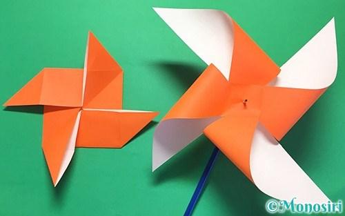 折り紙で折った風車