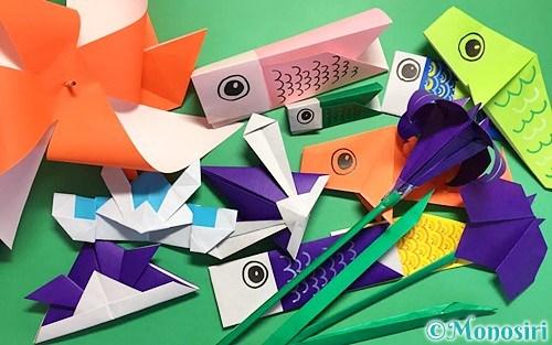 折り紙で作ったこどもの日(端午の節句)の飾り