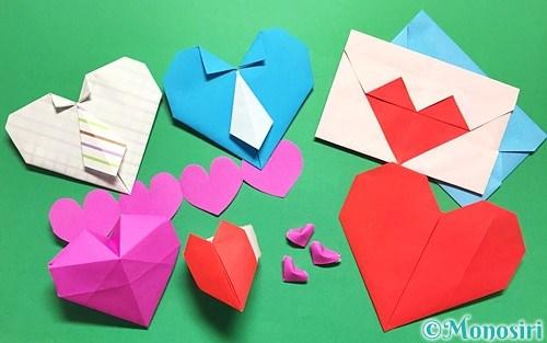 折り紙の 折り紙のハートの折り方 : mono-siri.com