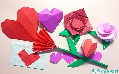 折り紙で作った母の日の飾り