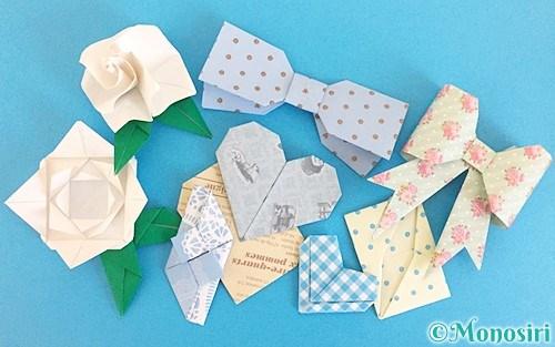 ホワイトデーの折り紙飾り