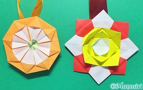 折り紙で作ったメダル