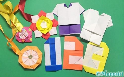 折り紙で作った運動会飾り