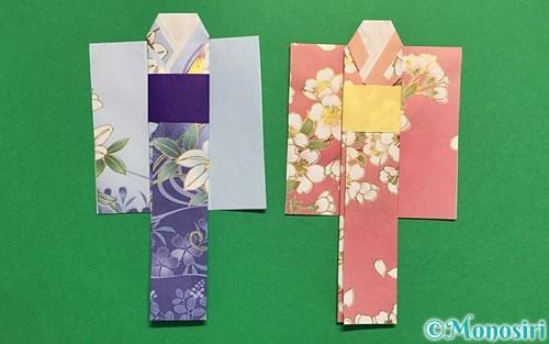 折り紙で作った浴衣(着物)