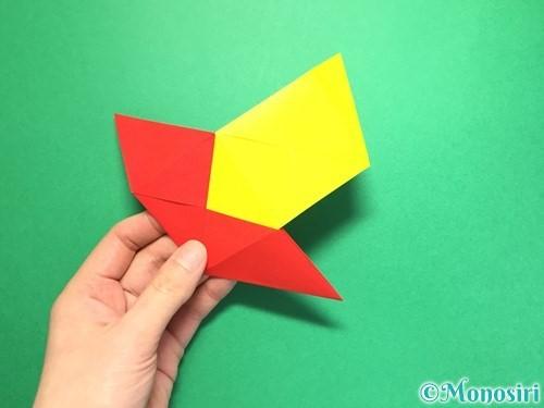 折り紙でくす玉の作り方手順22