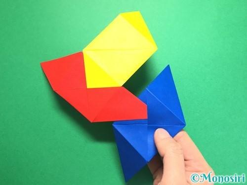 折り紙でくす玉の作り方手順24
