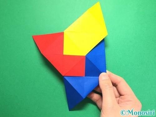 折り紙でくす玉の作り方手順25