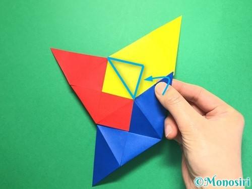 折り紙でくす玉の作り方手順26