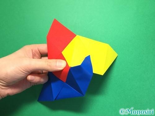 折り紙でくす玉の作り方手順27