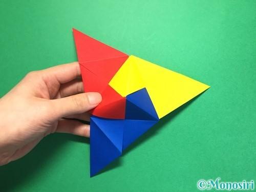 折り紙でくす玉の作り方手順28