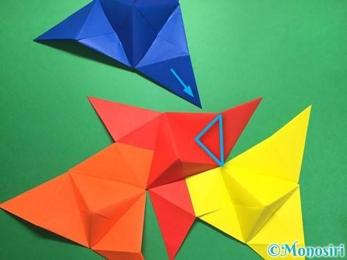 折り紙でくす玉の作り方手順38