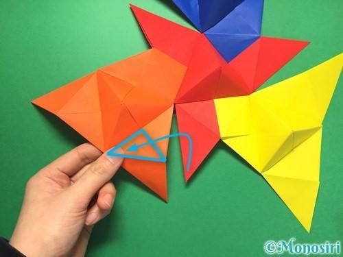 折り紙でくす玉の作り方手順41