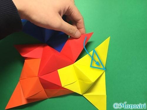 折り紙でくす玉の作り方手順44