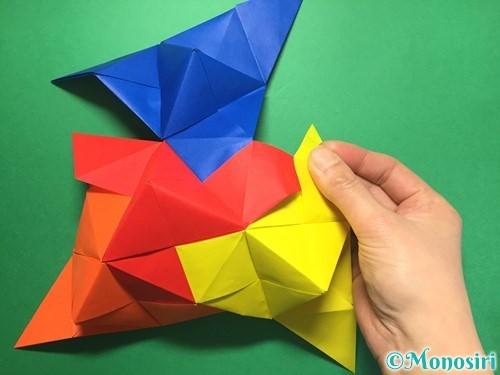 折り紙でくす玉の作り方手順45