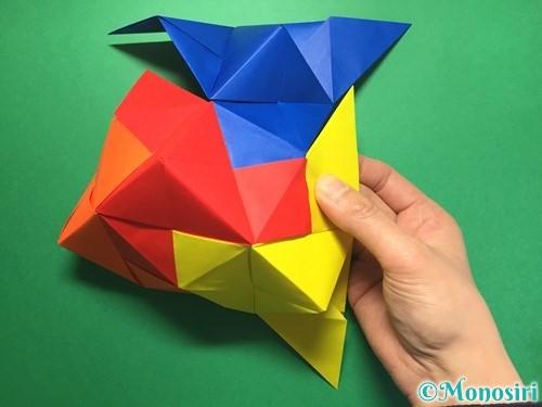 折り紙でくす玉の作り方手順46