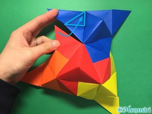 折り紙でくす玉の作り方手順47
