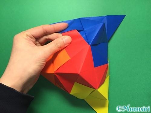 折り紙でくす玉の作り方手順48