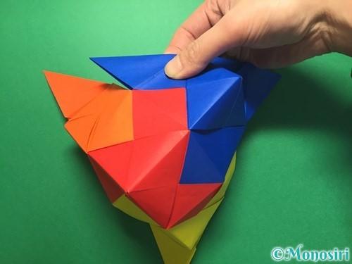 折り紙でくす玉の作り方手順49