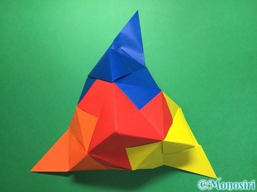 折り紙でくす玉の作り方手順50