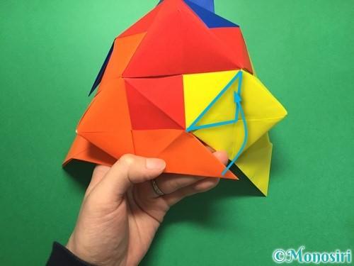 折り紙でくす玉の作り方手順51