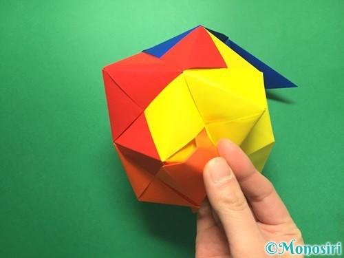 折り紙でくす玉の作り方手順52