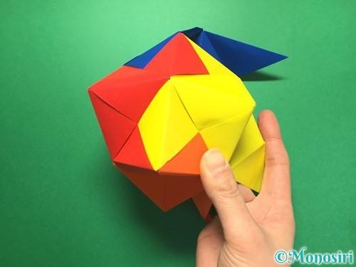 折り紙でくす玉の作り方手順53