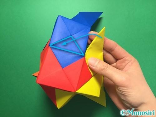 折り紙でくす玉の作り方手順54
