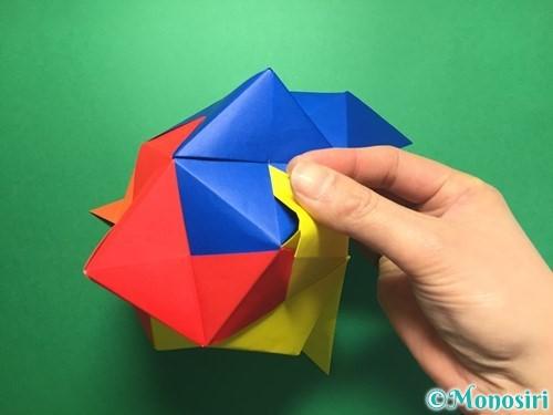 折り紙でくす玉の作り方手順55