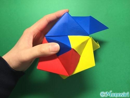 折り紙でくす玉の作り方手順56