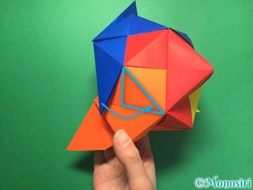 折り紙でくす玉の作り方手順57