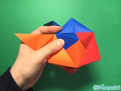 折り紙でくす玉の作り方手順59
