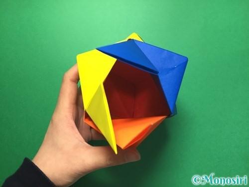 折り紙でくす玉の作り方手順61