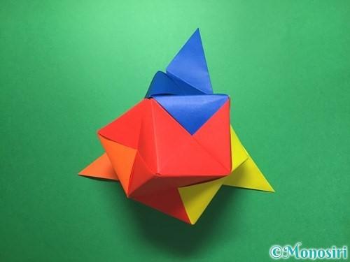 折り紙でくす玉の作り方手順60