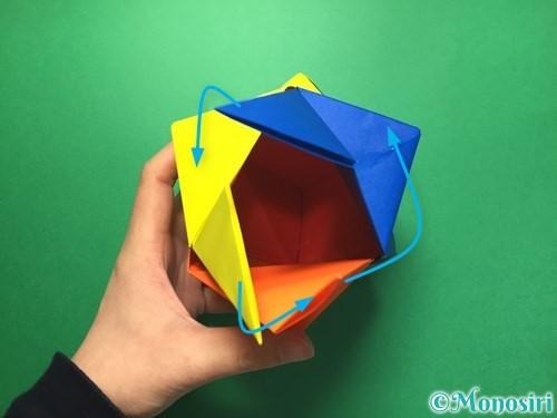 折り紙でくす玉の作り方手順62