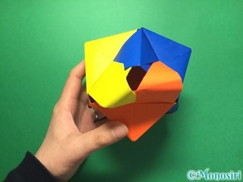 折り紙でくす玉の作り方手順63