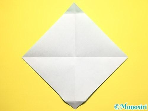 折り紙でスイカの折り方手順7