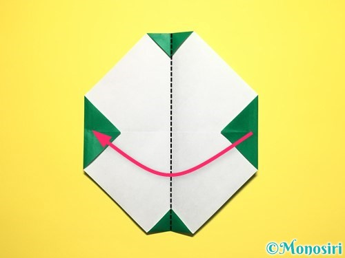 折り紙でスイカの折り方手順17