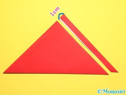折り紙でスイカの折り方手順20