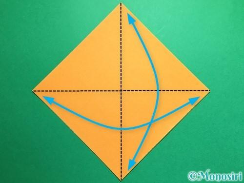 折り紙で鶴の折り方手順1