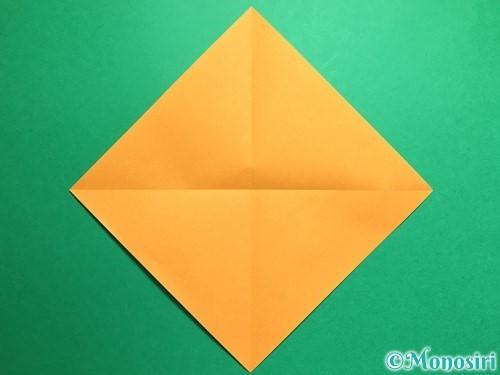 折り紙で鶴の折り方手順2