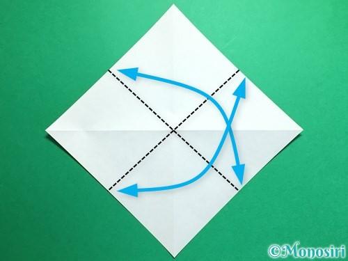 折り紙で鶴の折り方手順4