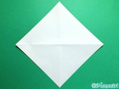 折り紙で鶴の折り方手順3