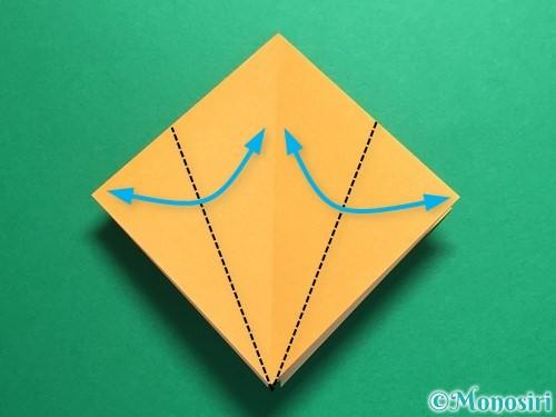 折り紙で鶴の折り方手順10
