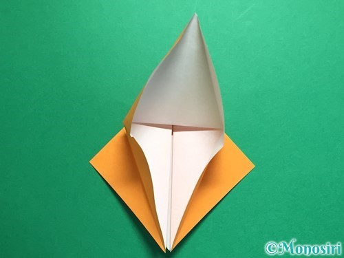 折り紙で鶴の折り方手順15
