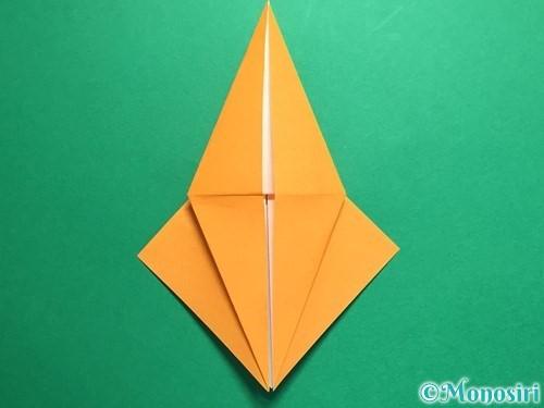 折り紙で鶴の折り方手順16