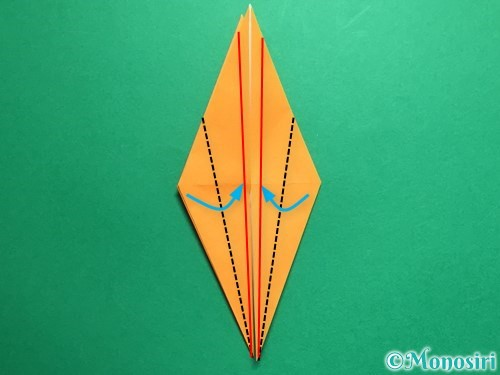 折り紙で鶴の折り方手順18