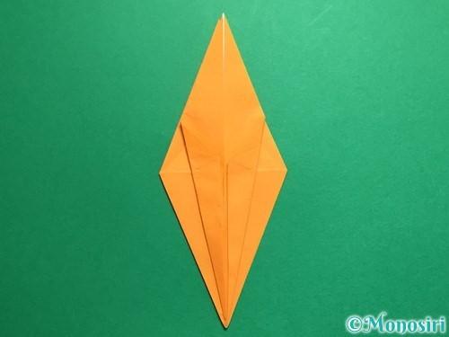 折り紙で鶴の折り方手順19
