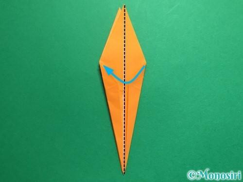 折り紙で鶴の折り方手順21